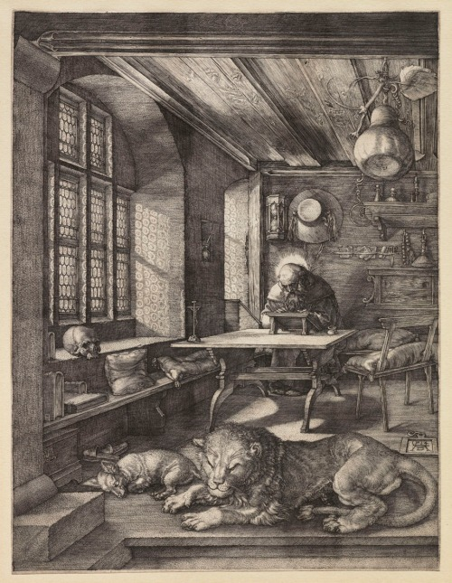 Albrecht Dürer, Saint Jerome in his Study, 1514. © Sterling and Francine Clark Art Institute, Williamstown, Massachusetts, USA.