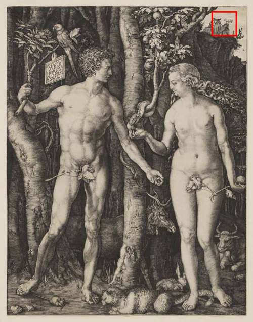 Albrecht Dürer, Adam and Eve, 1504. © Sterling and Francine Clark Art Institute, Williamstown, Massachusetts, USA