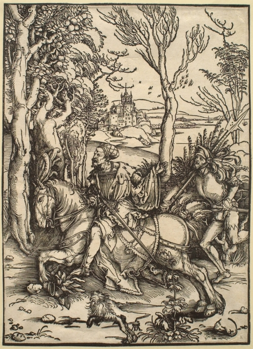 Albrecht Dürer, Knight and Landsknecht (c. 1496), © Sterling and Francine Clark Art Institute, Williamstown, Massachusetts, USA