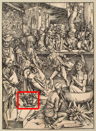 Albrecht Dürer, <i>The Martyrdom of Saint John</i>; from <i>The Apocalypse</i>;, c. 1498. © Sterling and Francine Clark Art Institute, Williamstown, Massachusetts, USA