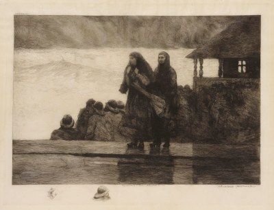 Winslow Homer, Perils of the Sea, 1888. Etching on vellum. The Clark, 1955.1482