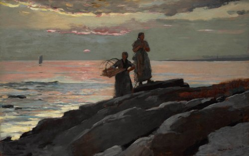 Winslow Homer, Saco Bay, 1896. Oil on canvas, 23 13/16 x 37 15/16 in. (60.5 x 96.4 cm). The Clark, 1955.5