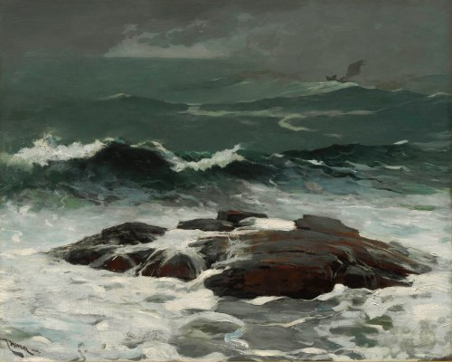 Winslow Homer, Summer Squall, 1904. Oil on canvas, 24 1/4 x 30 1/4 in. (61.6 x 76.8 cm). The Clark, 1955.8