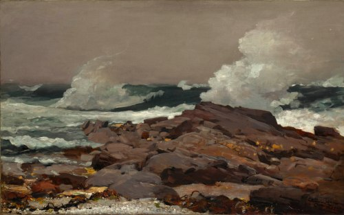 Winslow Homer (American; 1836–1910); Eastern Point; 1900. Oil on canvas; 30 1/4 x 48 1/2 in. (76.8 x 123.2 cm). The Clark; 1955.6
