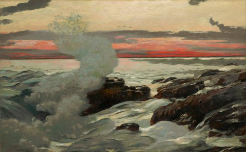 Winslow Homer (American, 1836–1910), West Point, Prout's Neck, 1900. Oil on canvas, 30 1/16 x 48 1/8 in. (76.4 x 122.2 cm). The Clark, 1955.7